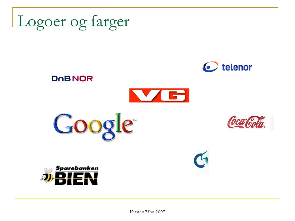 Logoer og farger Kirsten Ribu 2007