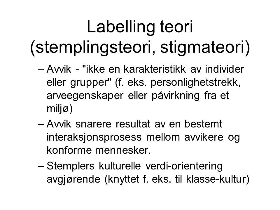 Labelling teori (stemplingsteori, stigmateori)