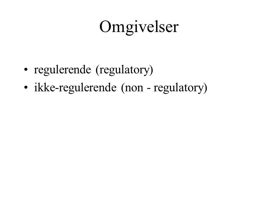 Omgivelser regulerende (regulatory)