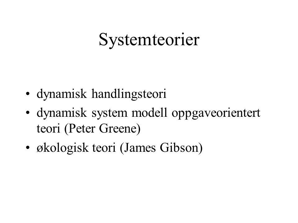 Systemteorier dynamisk handlingsteori