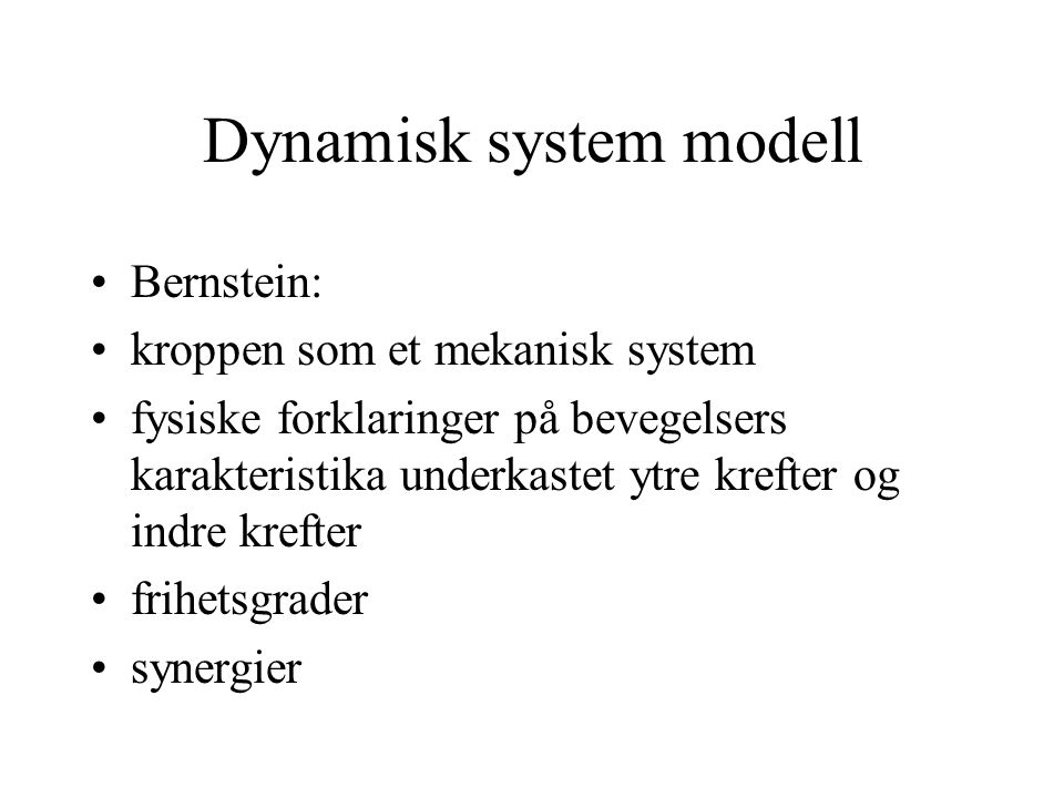 Dynamisk system modell