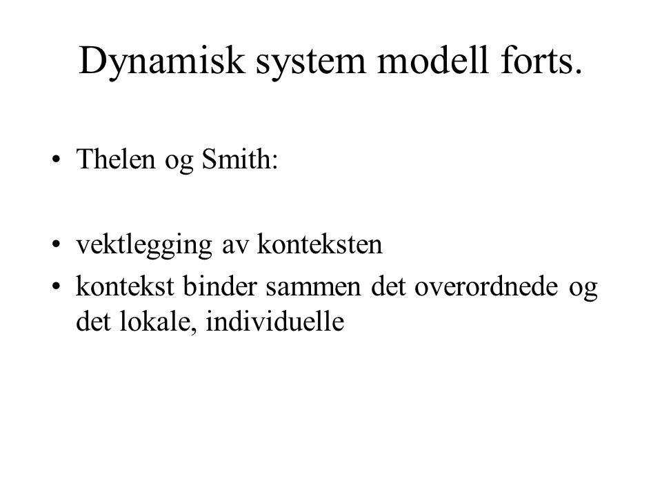 Dynamisk system modell forts.