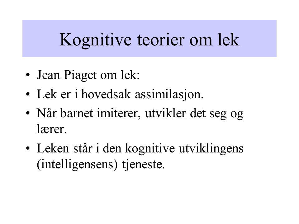 Kognitive teorier om lek