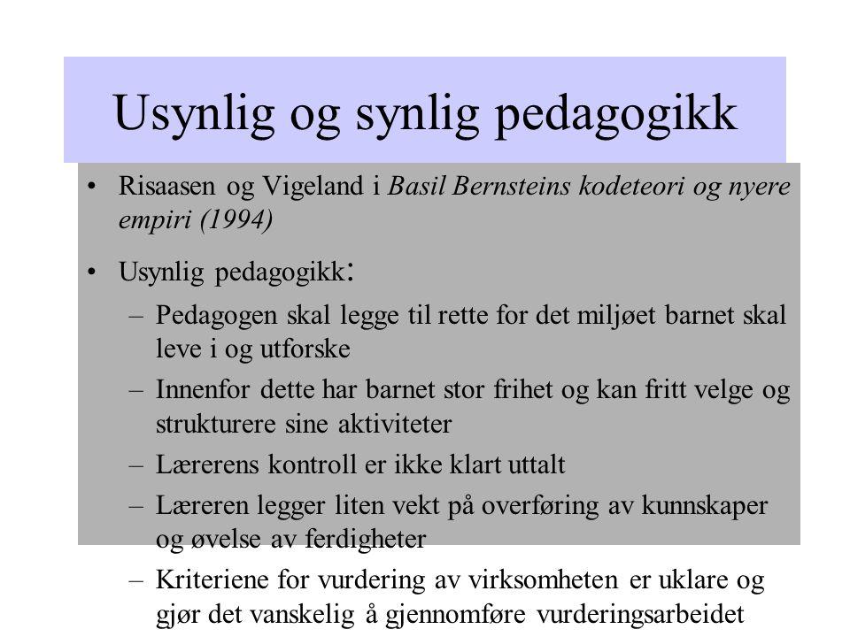 Usynlig og synlig pedagogikk