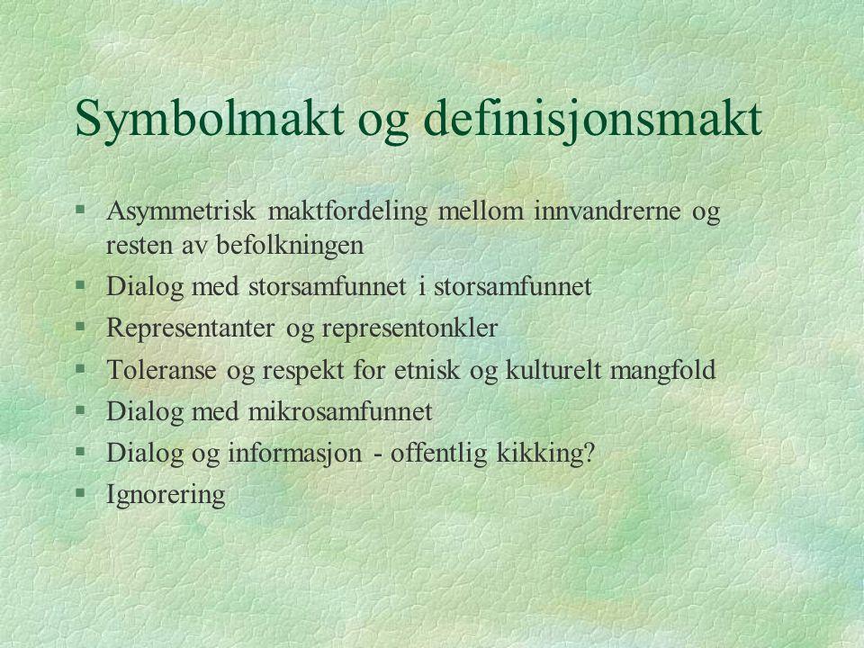 Symbolmakt og definisjonsmakt