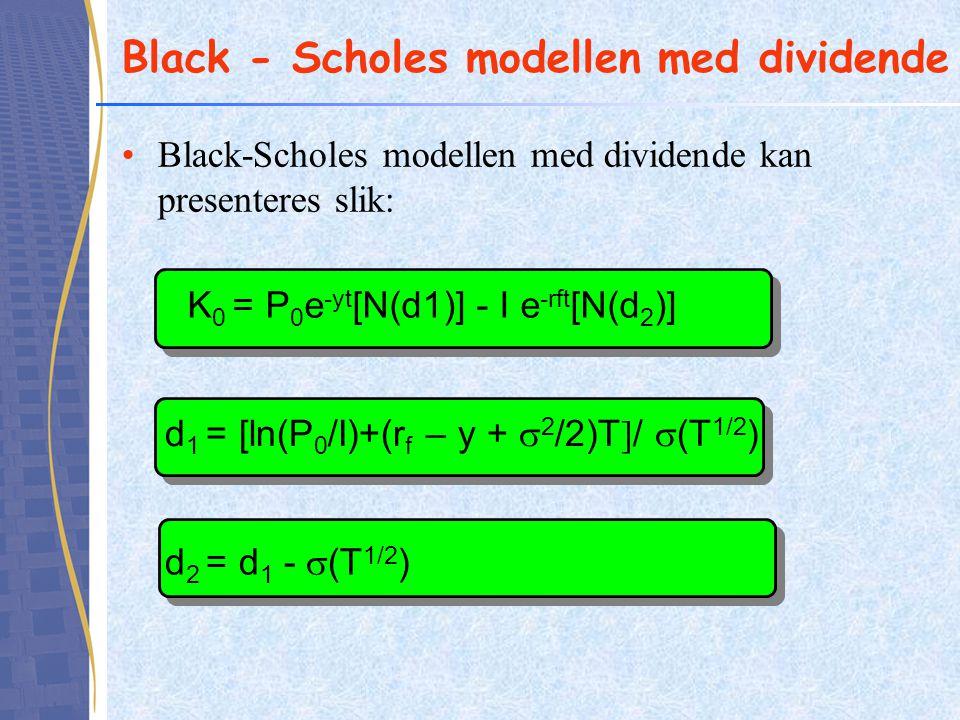 Black - Scholes modellen med dividende