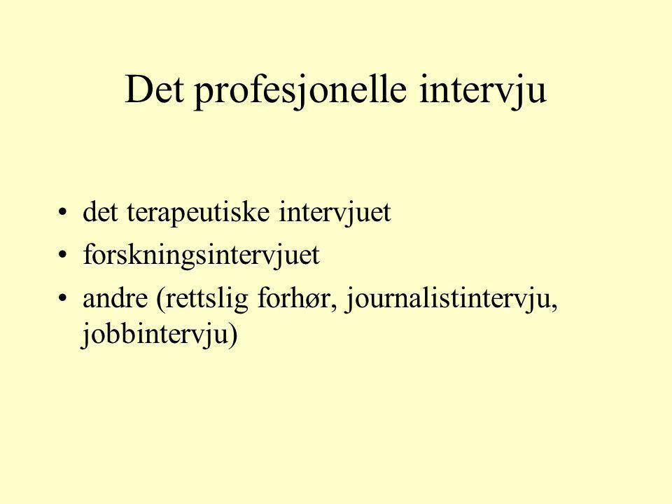Det profesjonelle intervju
