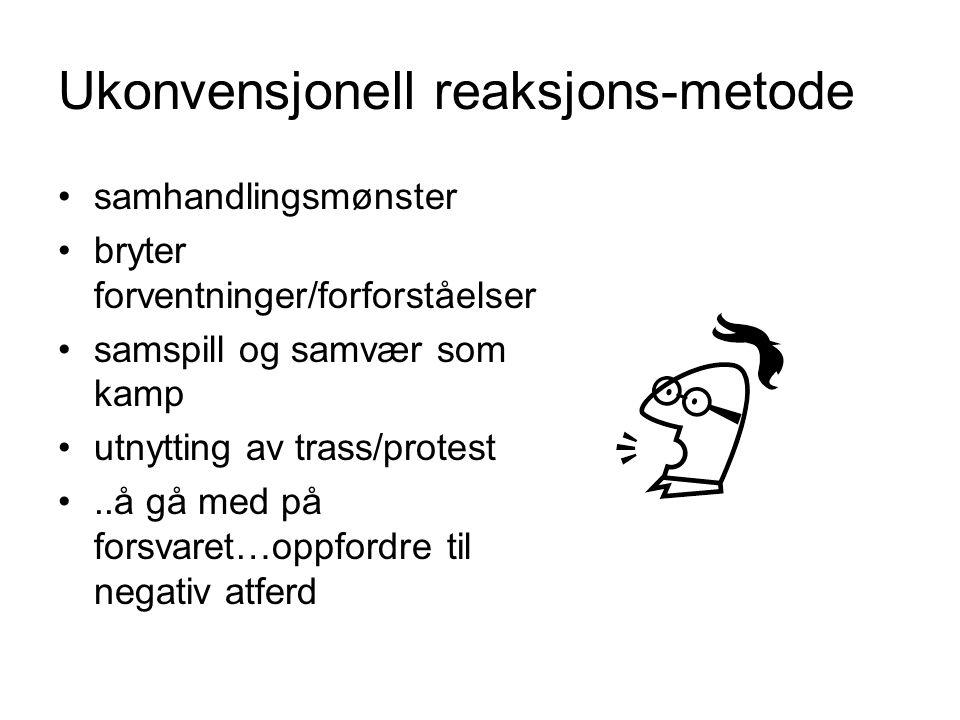 Ukonvensjonell reaksjons-metode