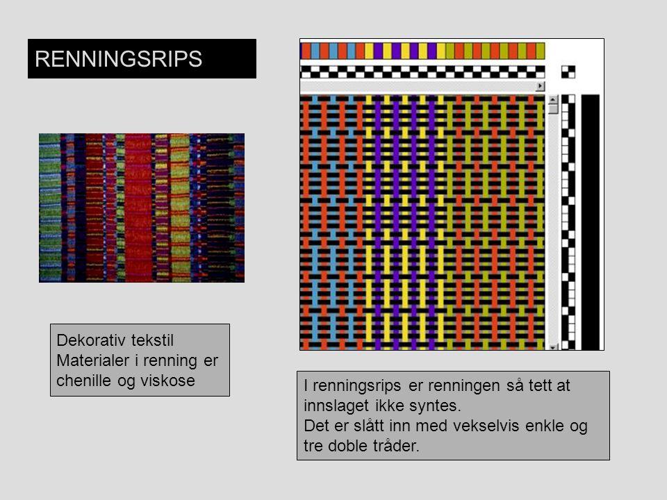 RENNINGSRIPS Dekorativ tekstil