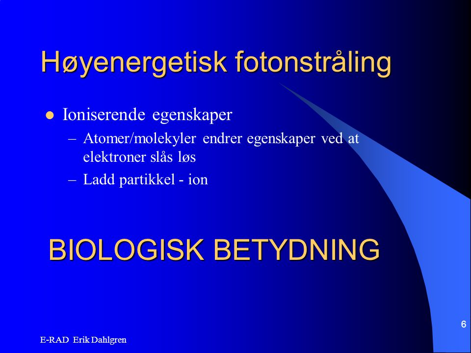 Høyenergetisk fotonstråling