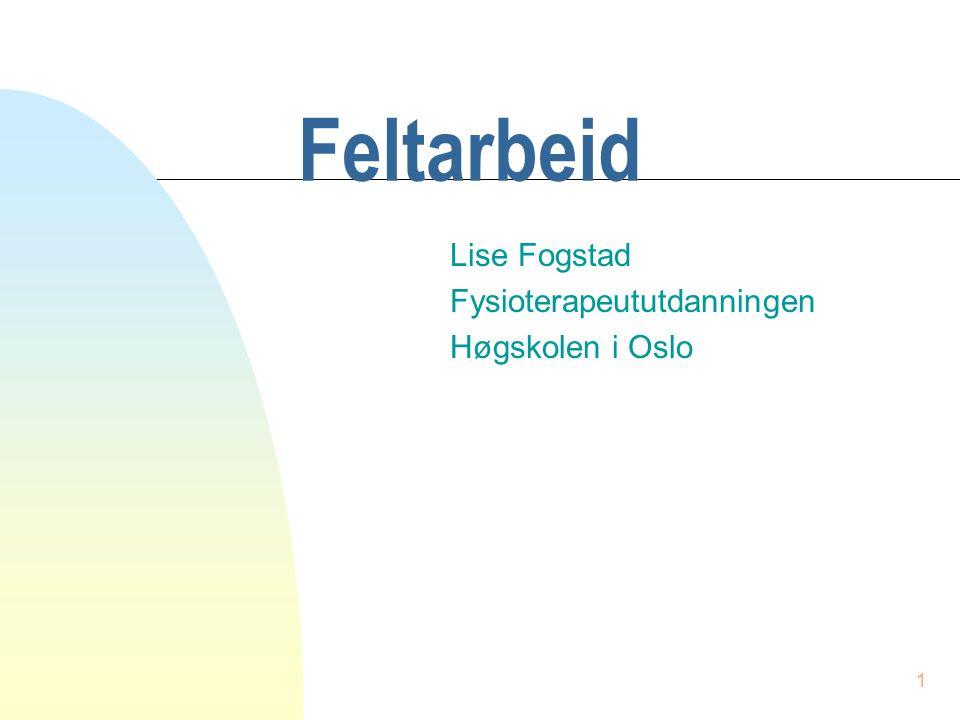 Lise Fogstad Fysioterapeututdanningen Høgskolen i Oslo