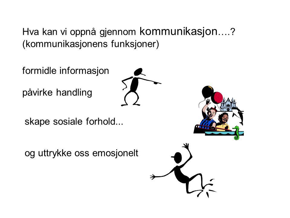 Hva kan vi oppnå gjennom kommunikasjon….