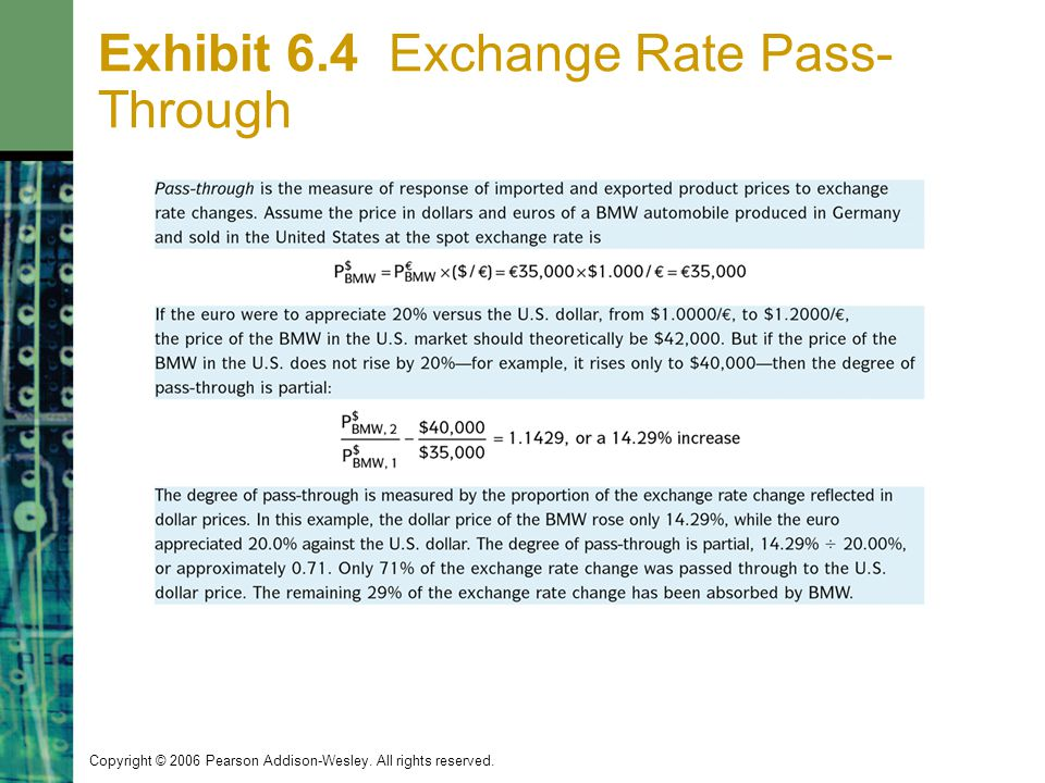 Exhibit 6.4 Exchange Rate Pass-Through