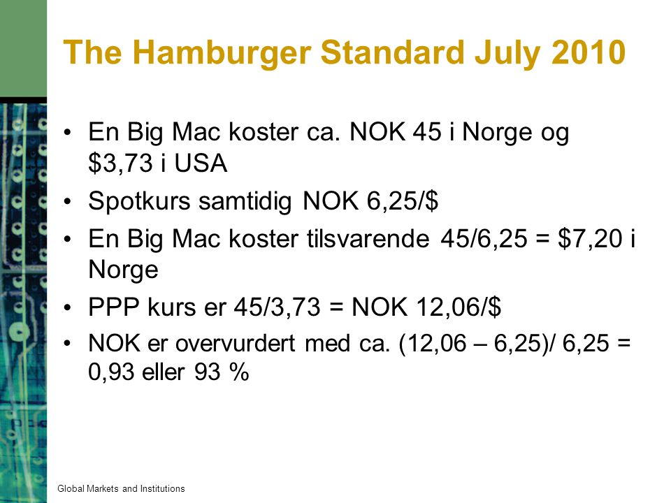 The Hamburger Standard July 2010