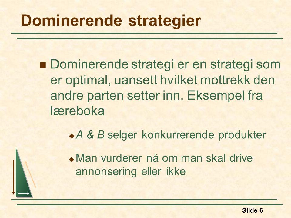 Dominerende strategier