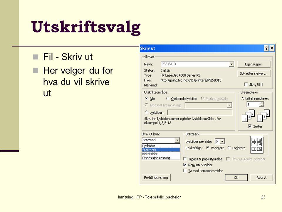 Innføring i PP - To-språklig bachelor