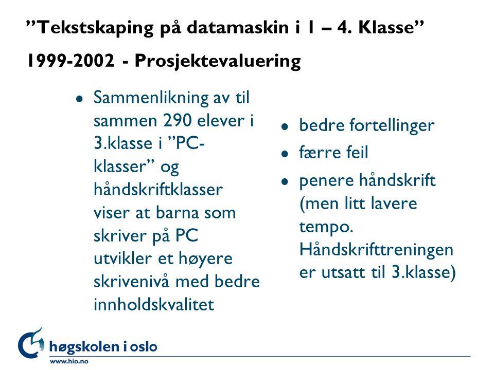 Tekstskaping på datamaskin i 1 – 4