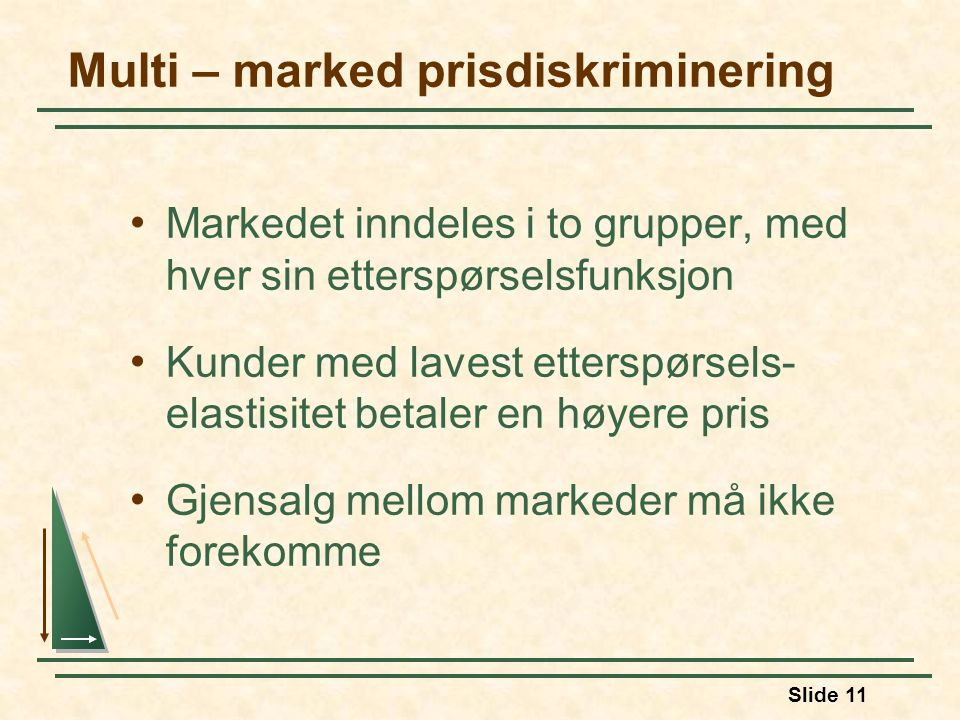 Multi – marked prisdiskriminering
