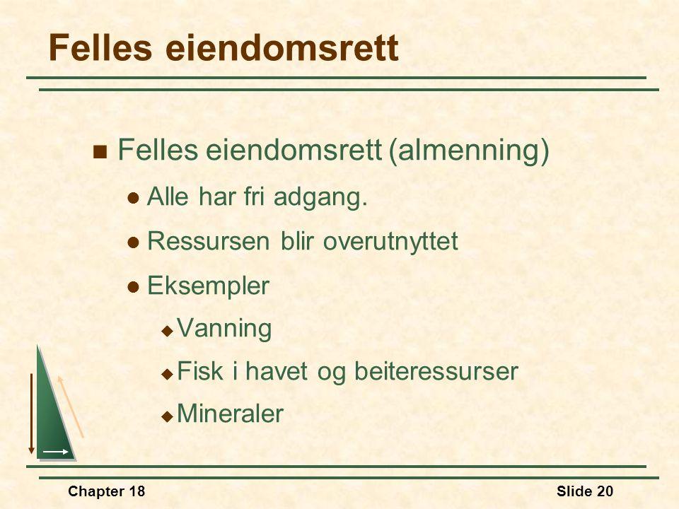 Felles eiendomsrett Felles eiendomsrett (almenning)