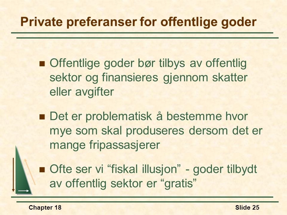 Private preferanser for offentlige goder