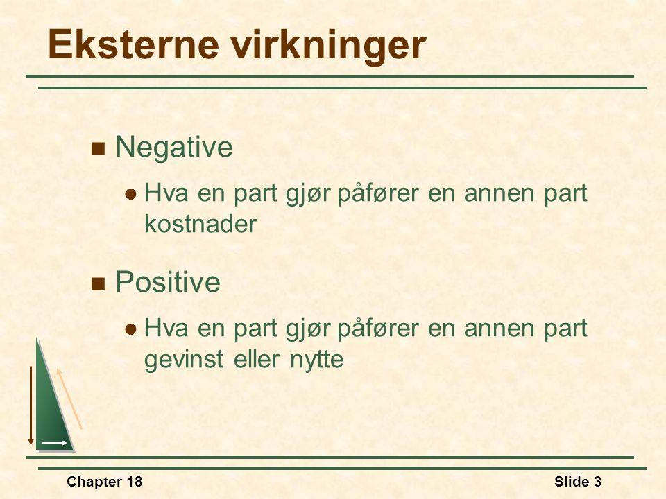 Eksterne virkninger Negative Positive