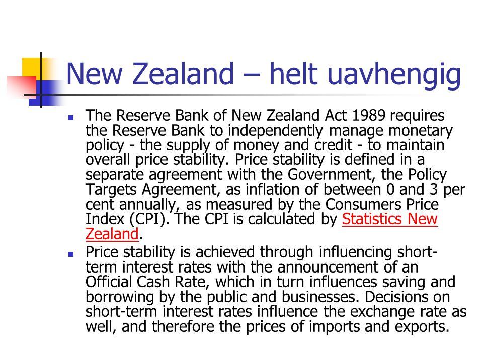 New Zealand – helt uavhengig