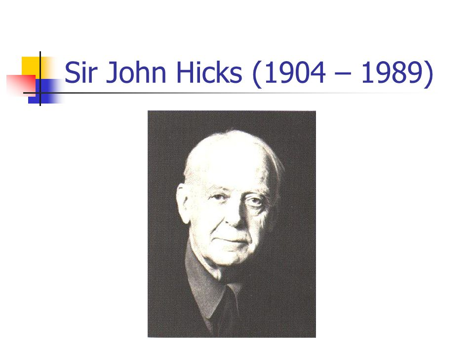 Sir John Hicks (1904 – 1989)