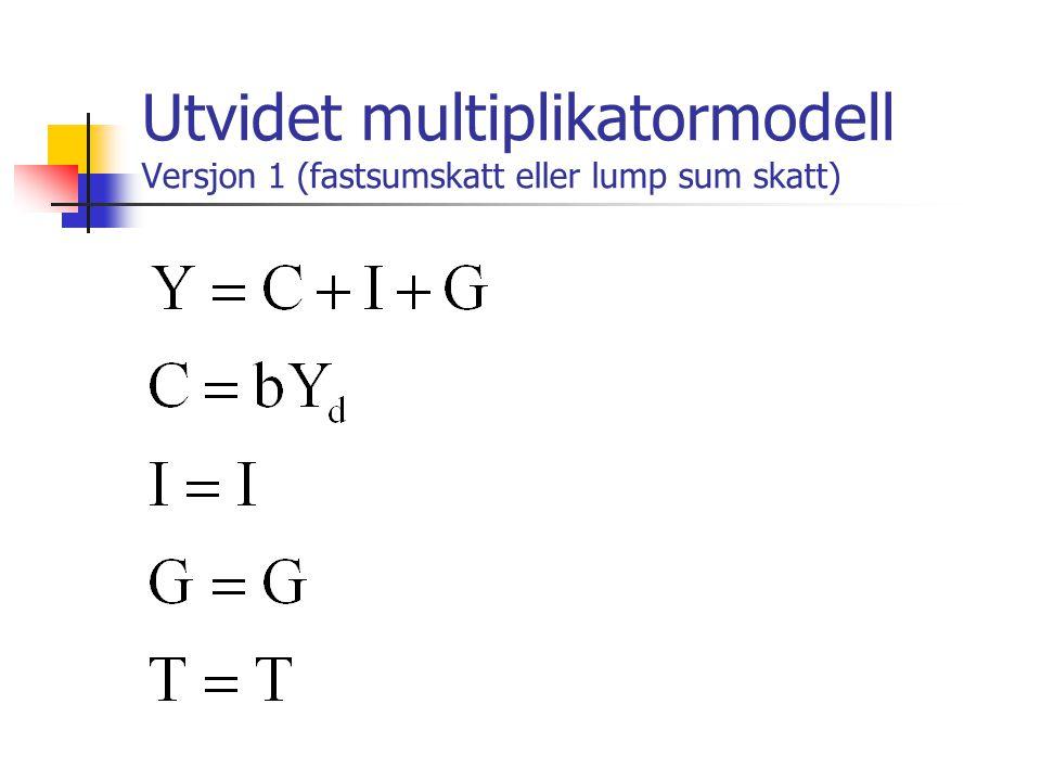 Utvidet multiplikatormodell Versjon 1 (fastsumskatt eller lump sum skatt)