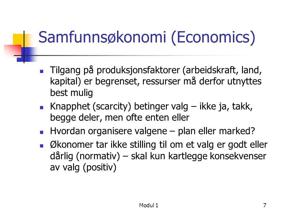 Samfunnsøkonomi (Economics)