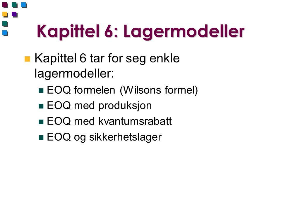 Kapittel 6: Lagermodeller
