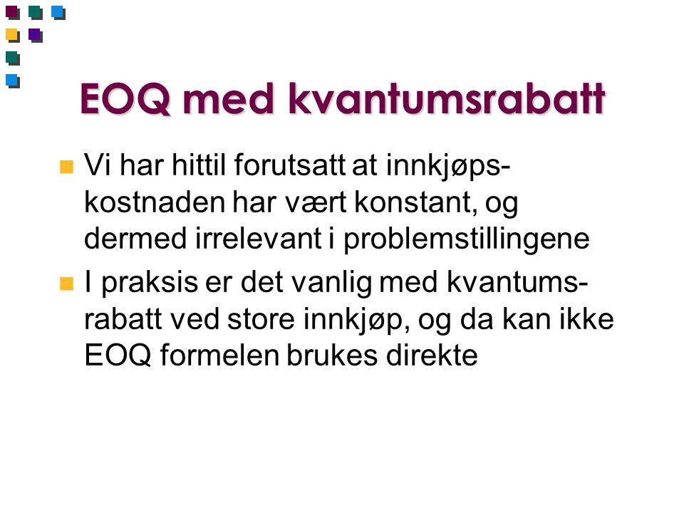 EOQ med kvantumsrabatt