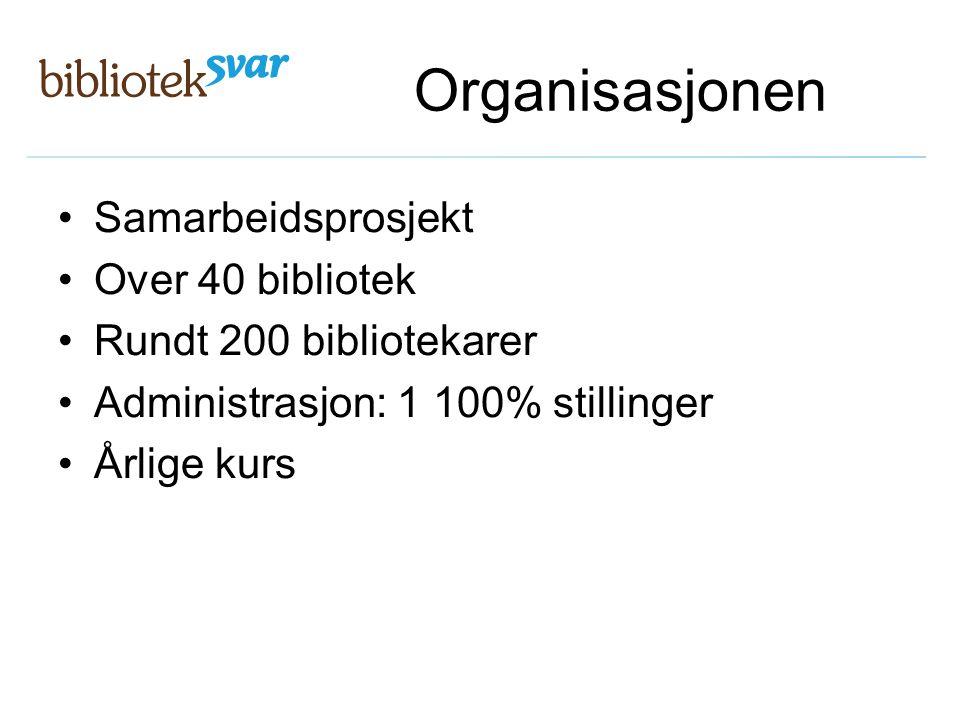 Organisasjonen Samarbeidsprosjekt Over 40 bibliotek