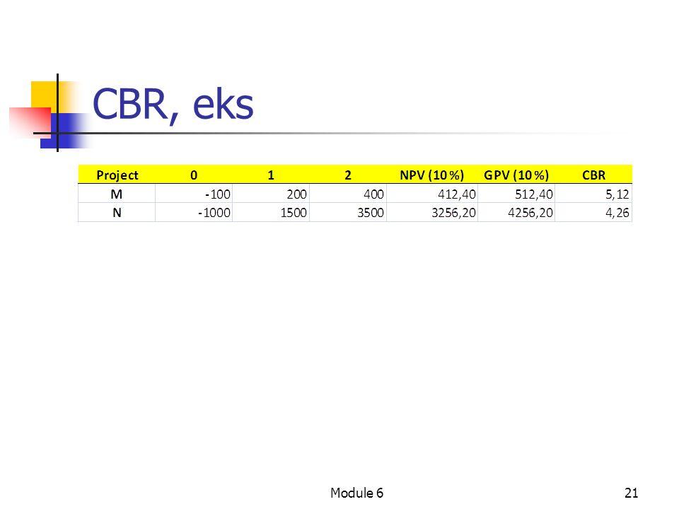 CBR, eks Module 6