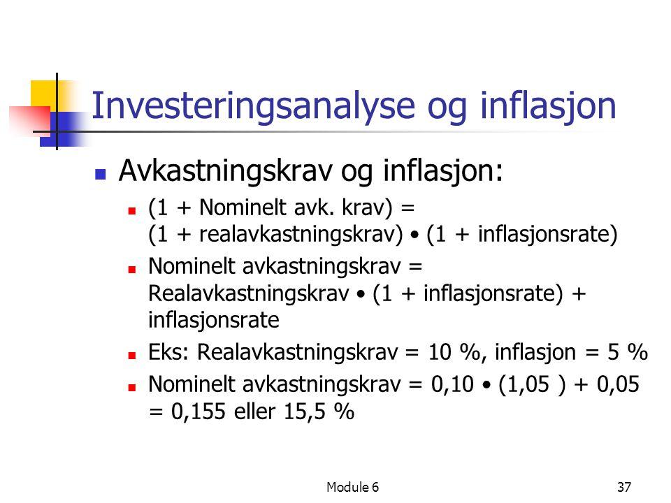 Investeringsanalyse og inflasjon