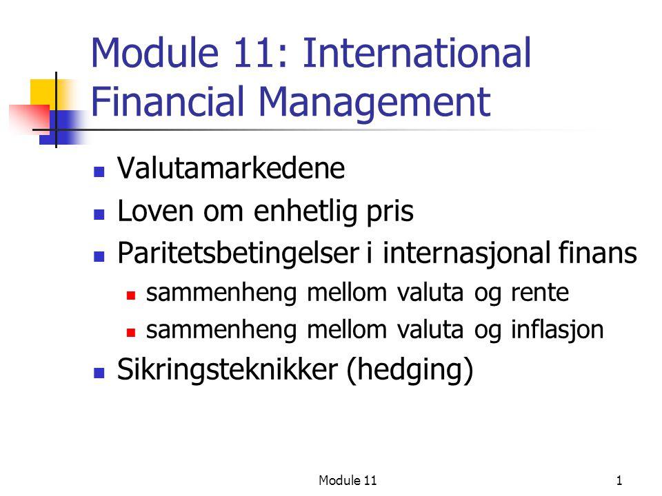 Module 11: International Financial Management