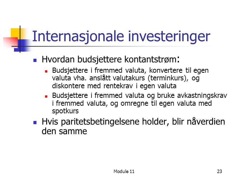Internasjonale investeringer