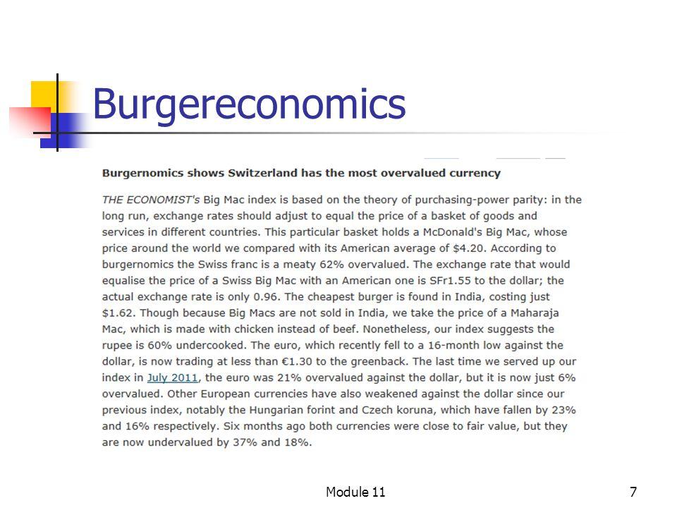 Burgereconomics Module 11