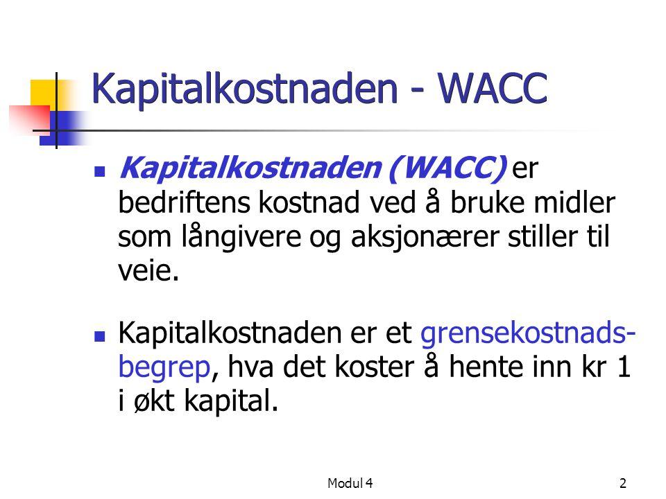 Kapitalkostnaden - WACC
