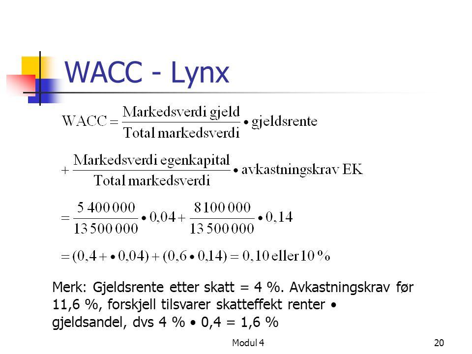 WACC - Lynx