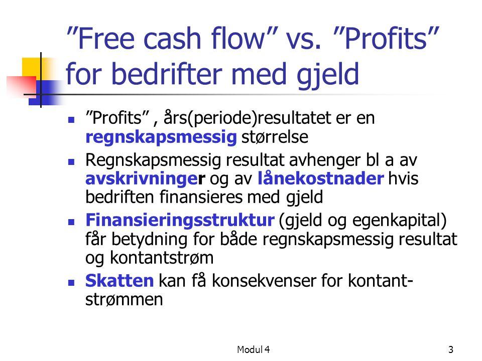 Free cash flow vs. Profits for bedrifter med gjeld