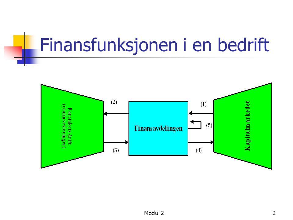 Finansfunksjonen i en bedrift
