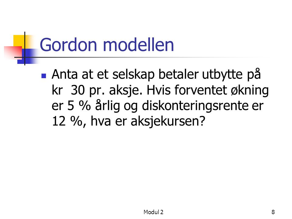 Gordon modellen