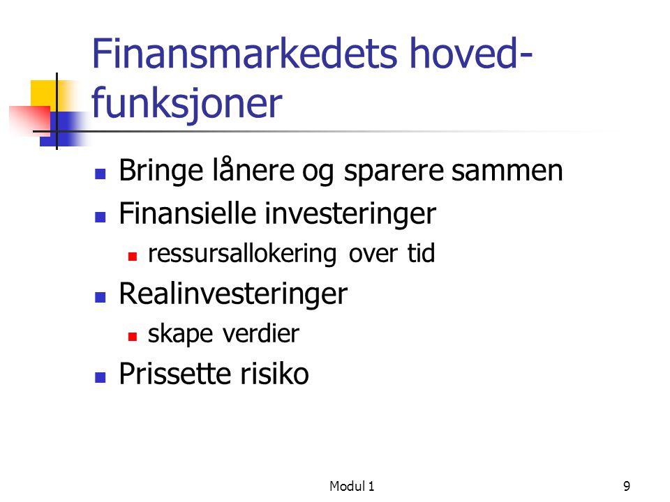 Finansmarkedets hoved-funksjoner