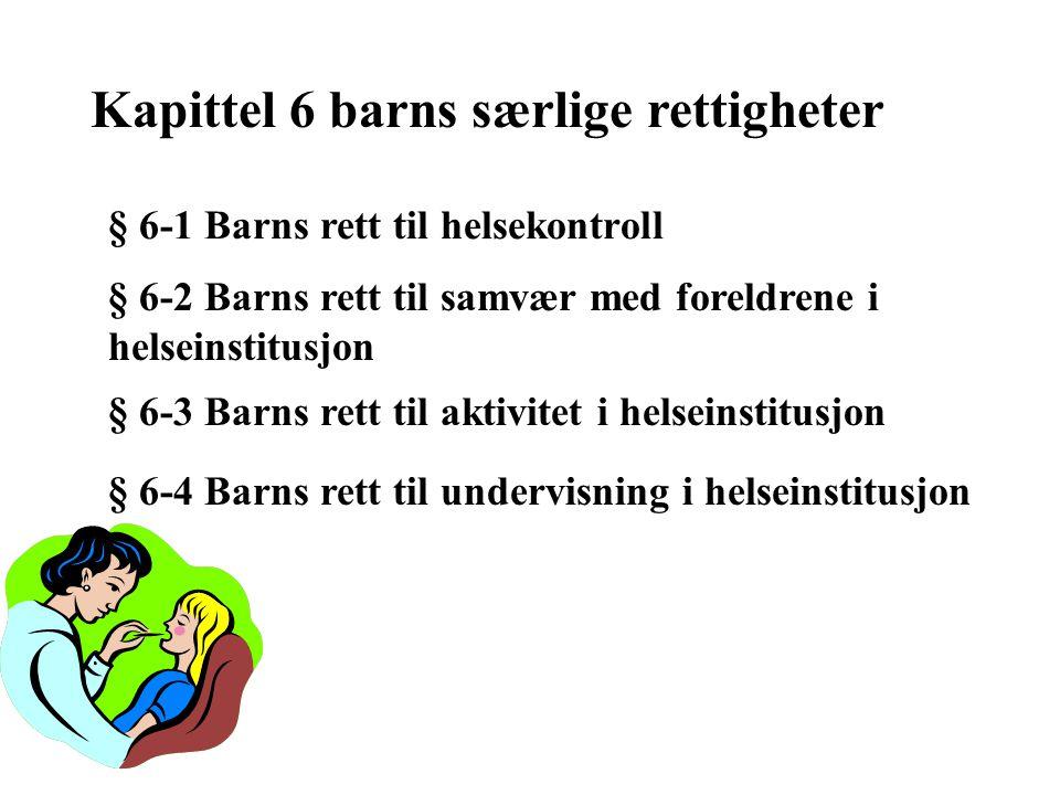 Kapittel 6 barns særlige rettigheter