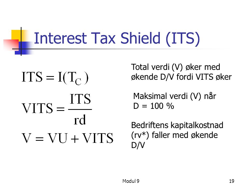 Interest Tax Shield (ITS)