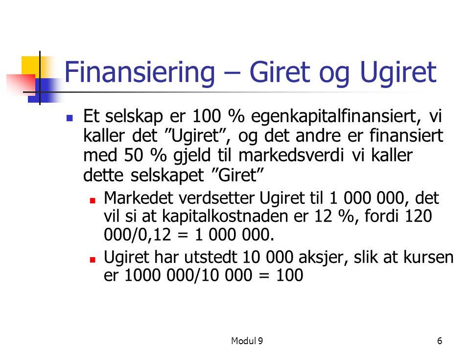 Finansiering – Giret og Ugiret