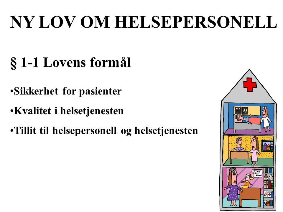 NY LOV OM HELSEPERSONELL