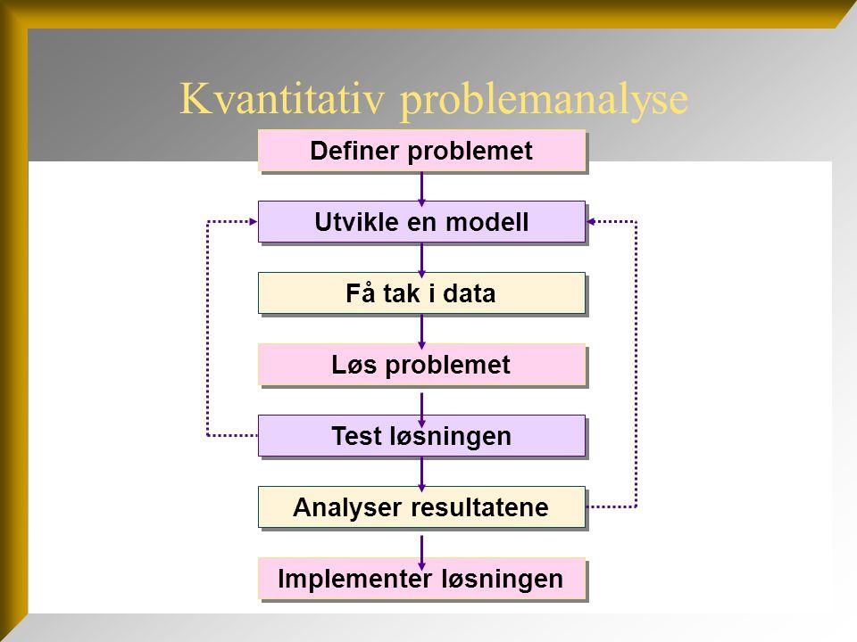 Kvantitativ problemanalyse