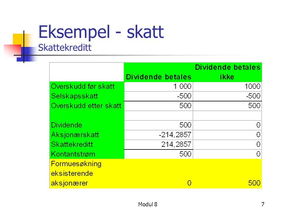 Eksempel - skatt Skattekreditt