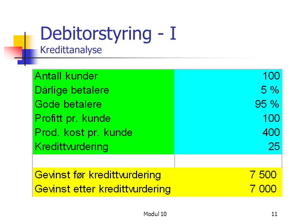 Debitorstyring - I Kredittanalyse